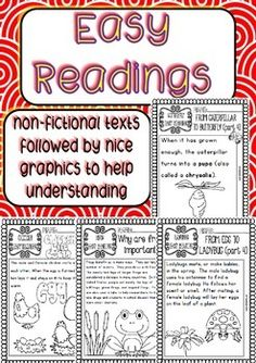 SCIENCE EASY READINGS AND PRINTABLES BUNDLE OF 8 SETS - TeachersPayTeachers.com