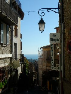 Ocean view from old town (South France)