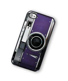iPhone Case Retro Princess Purple Camera Hard Phone Case / Fits Iphone 4, 4S. $18.00, via Etsy.