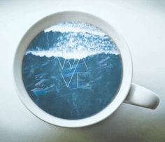 WAVE logo in a cup