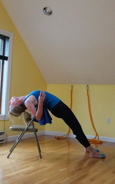 salamba purvottanasana  iyengar yoga chair back bends