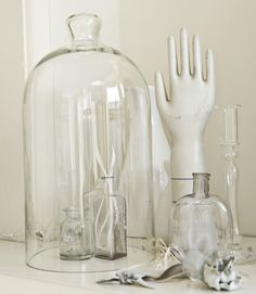 Glass under glass cloche