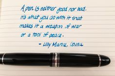 Handwritten Post - Good Pen, Bad Pen