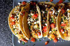 egg, potato and chorizo tacos