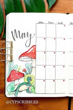 Check out the best mushroom themed bullet journal spreads and ideas for inspiration! December Bullet Journal, Bullet Journal Month, Bullet Journal Notes, Bullet Journal Aesthetic, Bullet Journal Writing, Bullet Journal School, Bullet Journal Spread, Bullet Journal Ideas Pages, Bullet Journal Layout