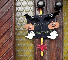 decorazione halloween per porta