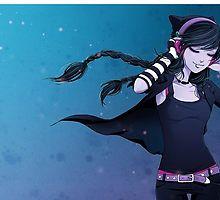 Anna Blue, Emo Art, Gothic Anime, Kawaii Chibi, Blue Art, Amazing Art, Art Reference, Manga Anime, Art Drawings