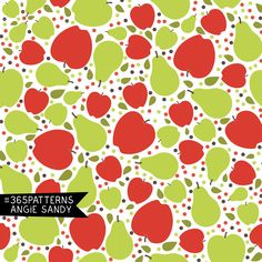 365 patterns - apples and pears