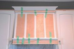 I'd fake COPPER, not wood. custom range hood for under diy, kitchen design, woodworking projects, Trim and lattice attached Kitchen Redo, Kitchen Design, Kitchen Ideas, Kitchen Cabinets, Kitchen Inspiration, Kitchen Backslash, 10x10 Kitchen, Kitchen Updates, Gray Cabinets
