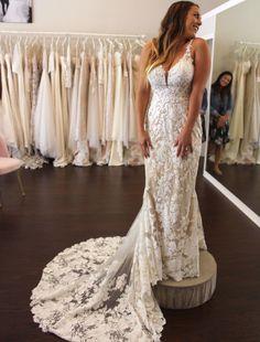 Wedding Dress Shopping at Malindy Elene in Tampa, FL: Martina Liana Western Wedding Dresses, Bridal Dresses, Wedding Dress Shopping, Plus Size Wedding, Beautiful Dresses, Ball Gowns, Champagne, Wednesday, Mermaid