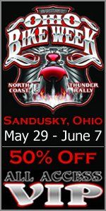 ONLY 245 VIP Passes at 50% OFF with a Free Shirt are Left!   2015 Ohio Bike Week – May 29 to June 7 ---------------- **Tickets www.ohiobikeweek.com/event-tickets.php ------------------------- #ohiobikeweek #ohiobikeweekdiscount #ohbikeweek #bikeweekohio