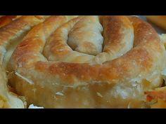 Δείτε πώς θα φτιάξετε ΦΥΛΛΟ ΑΕΡΟΣ ΣΕΝΤΟΝΙ εύκολα με τα χεράκια σας - YouTube Greek Recipes, Wine Recipes, Greek Dishes, Tart, Food Porn, Food And Drink, Pie, Bread, Cooking