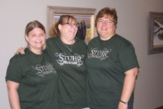 The Prairie Treasures Gift Shop has new Stuhr Museum T-shirts. As you can see, some members of the staff are really proud of them.