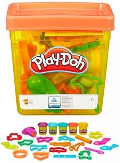 Play Doh Accessories Tub Kids Pretend Play 20 Pc Modeling Clay Toys Shape Cutter…
