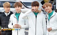Jimin, Suga, Jungkook and J-Hope ❤ #BTS #방탄소년단 Heading to ISAC 2016.