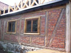 Image result for brick infill timber frame