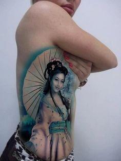 Geisha tattoo!! I want this!!