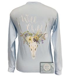 Girlie Girl Wild Child Comfort Colors Chambray Bright Long Sleeve T Shirt