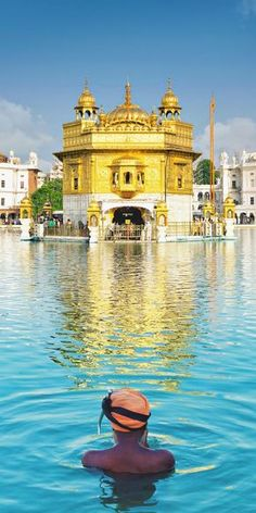 Golden Temple in Amritsar | Best Places To Visit In India Plus Things To Do | The Golden Temple, also referred as Sri Harmandir Sahib or Sri Darbar Sahib is a holistic and religious site to the Sikhs, and a true symbol of human brotherhood and equality. | via @Just1WayTicket | Photo ©️️ somchaisom/Depositphotos