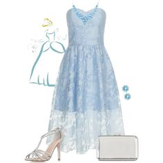 Cinderella by violetvd on Polyvore featuring polyvore fashion style Chi Chi Atmos&Here Anna Sheffield Disney