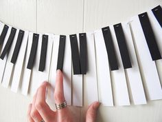 Piano Garland Paper Music Garland Band Party by ElisabethNicole