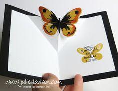 Stampin' Up! Watercolor Wings Diagonal Pop Up Card #stampinup www.juliedavison.com