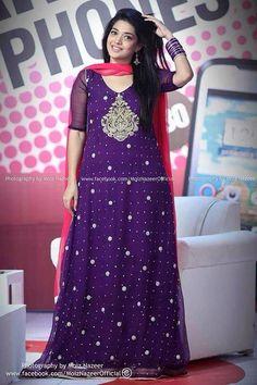 Beautiful sanam jhang in purple