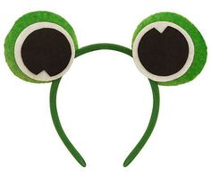 Frog Headband - Eye Fancy Dress Costume Animal Toad Green Outfit