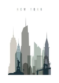 New York Skyline Poster in the group Posters & Prints / Sizes / 50x70cm | 19,7x27,6 at Desenio AB (2351)