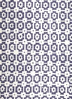 """Paloma Indigo - Braemore Textiles Fabric - 100% linen multi pupose foulard print fabric. Perfect for upholstery, drapery, pillows, slipcovers or top of the bed. V 12"""", H 9 up the roll repeat. 54"""" wide. Made in U.S.A."""