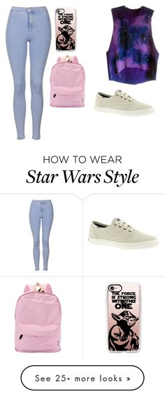 """""""Untitled #186"""" by marvel1 on Polyvore featuring Topshop, Casetify and Keds"""