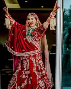 It's time to ditch the age-old traditional red lehenga and go for lehenga colours that express your individuality! Indian Bride Poses, Indian Wedding Poses, Indian Bridal Photos, Indian Wedding Couple Photography, Indian Bridal Outfits, Indian Bridal Fashion, Indian Bridal Wear, Bridal Photography, Bridal Dresses