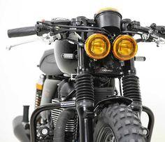 Denali Dual Headlight Conversion Kit For Triumph Bonneville, Thruxton & Scrambler Motorcycle Headlight, Motorcycle Tank, Scrambler Motorcycle, Motorcycle Style, Bobber, Cafe Racer Headlight, Retro Motorcycle, Concept Motorcycles, Triumph Motorcycles