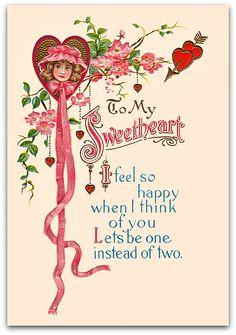 vintage valentines | Cards n Greetings: Valentines Day Vintage Card for Sweetheart