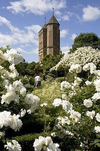 Sissinghurst Castle Garden, Vita Sackville West's White Garden, Sissinghurst, Kent, UK