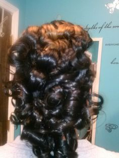 Mohawk w/ flat iron curled middle