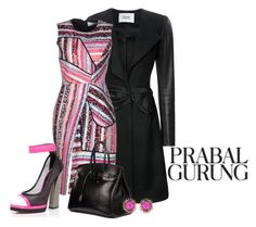 """""""PRABAL FASHIONS"""" by arjanadesign ❤ liked on Polyvore featuring Prabal Gurung, Hermès and Kendra Scott"""