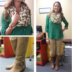 Teacher Clothing Blog  Emerald Chiffon