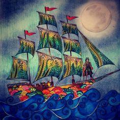 O Holandês Voador, abrindo meu oceano perdido #oceanoperdido #lostocean #holandesvoador #coloringbook #amocolorir #colorindolivrostop #desafioscoloridos #davyjones jones