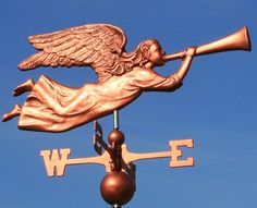 East Coast Weathervanes and Cupolas I Believe In Angels, Weather Vanes, Angels Among Us, Water Tower, Greek Gods, Cherub, Architecture Details, Whimsical, Clip Art