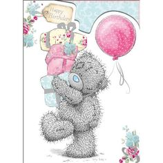creddy teddy bears | Tatty Teddy Holding Gifts Birthday Me to You Bear Card (A01SD125) : Me ...
