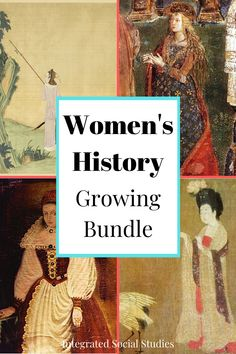 Quit skipping women in history just because they aren't included in your textbook. Get this growing TpT bundle and get any future women's history resource available in my store. This is a perfect resource for world history teachers especially because there are several Asian women resources. Check out all the details in my TpT store. #womenshistorymonth