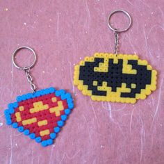 Superman and Batman Keychains