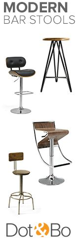 Modern Bar Stools | Shop Now at dotandbo.com