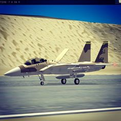 Just landed (new F-15E for Special Air Wing)