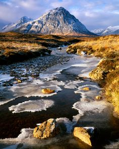 Buachaille  Etive Mor, winter - truly stunning scenery, imagery and photography.