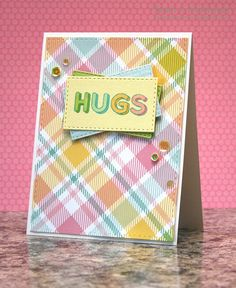 My Impressions: Simon Says Stamp March Card Kit: Hugs Card & Giveaway!