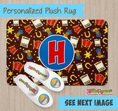 Personalized Cowboy Rug - Personalized Plush Rug - Personalized Nursery Rug - Children Rug - Nursery Cowboy  Rug - Cowboy Bedroom
