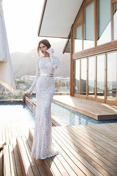 Abendkleider lang  weiß braut