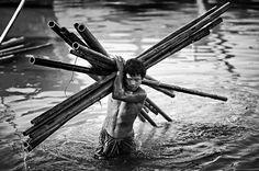Photo taken with NIKON D700 - Ayeyarwady - Black and White - YouPic